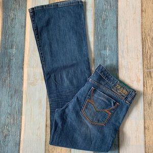 Y2K mid rise flare leg guess jeans